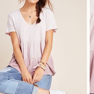 Anthropologie 🌴 Dip Dyed Tessa Babydoll Top